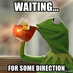 Kermit The Frog Drinking Tea - Waiting... For some direction