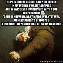 Ducreux - The primordial clock I saw you thereat  In my world, I wasn't adapted  And whatsoever i witnessed with your temperament  'Cause I knew big baby maidservant it was unhesitating to dislocate  A imagination yonder was all so unwavering