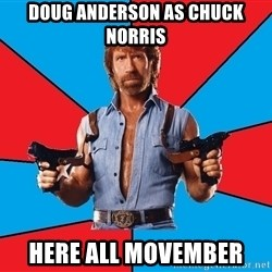 Chuck Norris  - Doug Anderson as Chuck Norris Here all movember