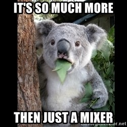 Koala can't believe it - It's so much more then just a mixer