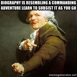 Ducreux - biography is resembling a commanding adventure