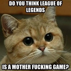 Do you think this is a motherfucking game? - DO YOU think league of legends is a mother fucking game?