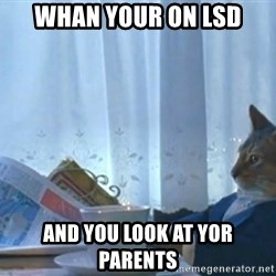 newspaper cat realization - Whan Your On LSD and you look at yor parents