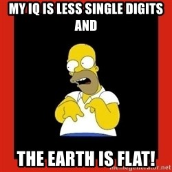 Homer retard - My iq is less single digits and The earth is FLAT!