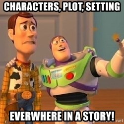 Consequences Toy Story - Characters, Plot, Setting everwhere in a Story!