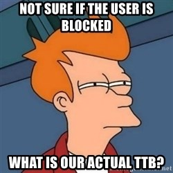 Not sure if troll - nOT SURE IF THE USER IS BLOCKED wHAT IS OUR ACTUAL ttb?