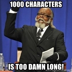Rent Is Too Damn High - 1000 Characters is too damn long!