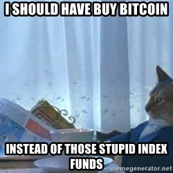 newspaper cat realization - I should have buy Bitcoin instead of those stupid index funds
