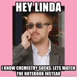Hey Girl - HEY LINDA I KNOW CHEMISTRY SUCKS, LETS WATCH THE NOTEBOOK INSTEAD