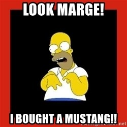 Homer retard - Look marge! I bought a mustang!!