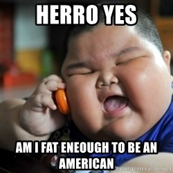 fat chinese kid - Herro yes am i fat eneough to be an american