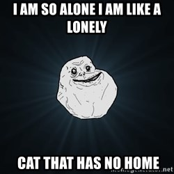 Forever Alone - i am so alone i am like a lonely  cat that has no home