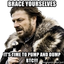 Brace yourself - Brace yourselves It's time to pump and dump btc!!!