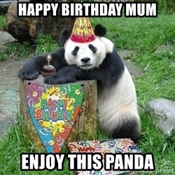 Happy Birthday Panda - Happy birthday mum ENJOY this panda