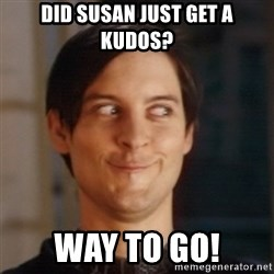 Peter Parker Spider Man - Did susan just get a kudos? way to go!