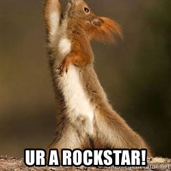 dramatic squirrel - UR A ROCKSTAR!