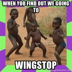 african kids dancing - When you find out we going to Wingstop
