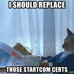 Sophisticated Cat - I should replace those startcom certs