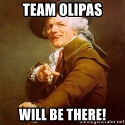 Joseph Ducreux - Team olipas Will be there!