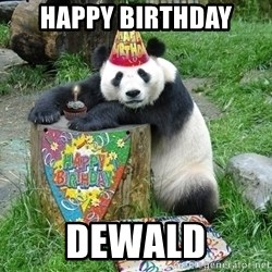 Happy Birthday Panda - happy birthday DEWALD