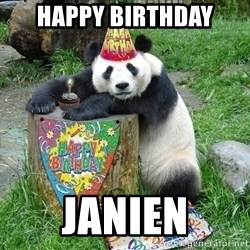 Happy Birthday Panda - happy birthday janien