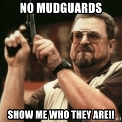 Walter Sobchak with gun - no mudguards show me who they are!!
