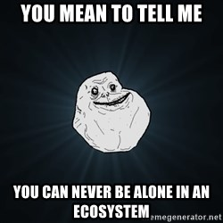 Forever Alone - you mean to tell me you can never be alone in an ecosystem
