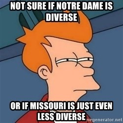 Not sure if troll - Not sure if Notre Dame is Diverse Or if Missouri is just even less diverse