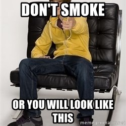 Justin Bieber Pointing - Don't smoke  or you will look like this