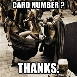 sparta kick - CARD NUMBER ? THANKS.