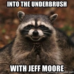 evil raccoon - into the underbrush with Jeff Moore