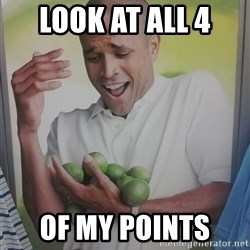 Limes Guy - Look at all 4  Of my points