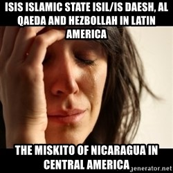crying girl sad - ISIS Islamic State ISIL/IS Daesh, Al Qaeda and Hezbollah in Latin America The Miskito of Nicaragua in Central America