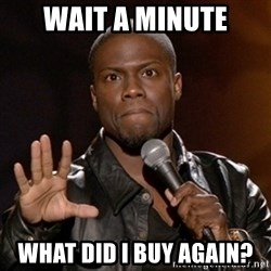 Kevin Hart - wait a minute what did i buy again?