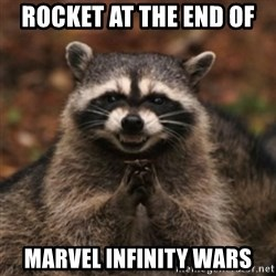 evil raccoon - Rocket at the end of marvel infinity wars