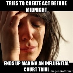 crying girl sad - Tries to create act before midnight ends up making an influential court trial
