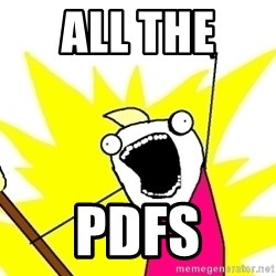 X ALL THE THINGS - ALL THE  PDFS