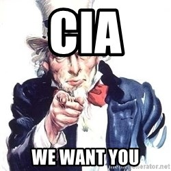 Uncle Sam - cia  we want you
