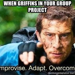 Improvise adapt overcome - when griffins in your group project