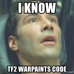 i know kung fu - I KNOW TF2 WARPAINTS CODE