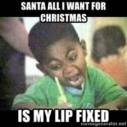 Black kid coloring - santa all i want for christmas  is my lip fixed