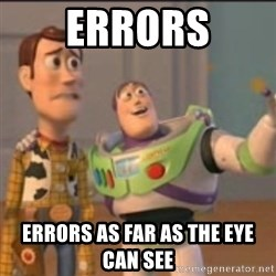 Buzz - Errors Errors as far as the eye can see