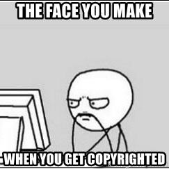 computer guy - the face you make  when you get copyrighted