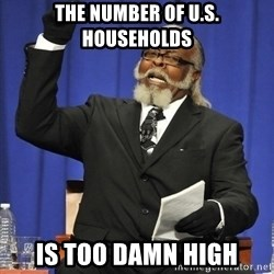 Rent Is Too Damn High - THE NUMBER OF U.S. HOUSEHOLDS IS TOO DAMN HIGH