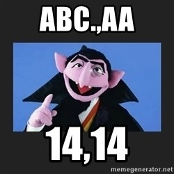 The Count from Sesame Street - abc.,aa 14,14