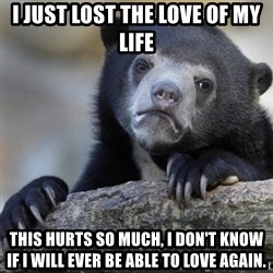 Confession Bear - i just lost the love of my life this hurts so much, i don't know if i will ever be able to love again.