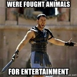 GLADIATOR - were fought animals for entertainment