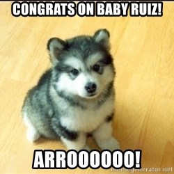 Baby Courage Wolf - CONGRATS ON BABY RUIZ! ARROOOOOO!