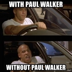 Vin Diesel Car - With paul walker WithouT paul walkEr