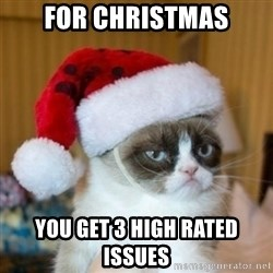 Grumpy Cat Santa Hat - For Christmas you get 3 high rated issues